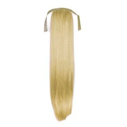 Pony tail Fiber extensions Straight blonde 613#