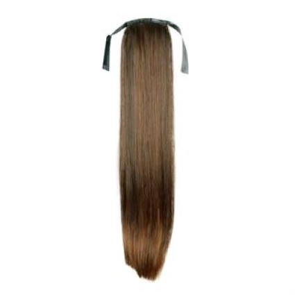 Pony tail Fiber extensions straight Light Brown 6#