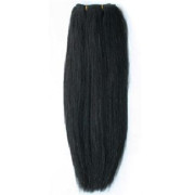 60 cm weft Hair extensions Jet Black 1B#