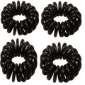 Pony O Spiral Hair elastics Black 4pcs